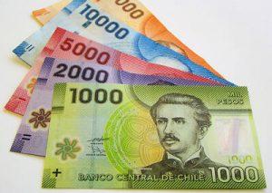 A notas da moeda chilena