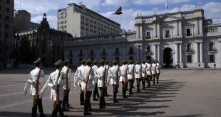 Cerimônia Troca de Guarda La Moneda Santiago