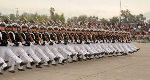 Desfile dos Militares Chilenos no dia 19 de setembro