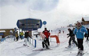 Esquiando em Valle Nevado