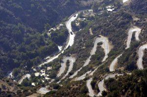 Estrada desde Santiago à Montanha