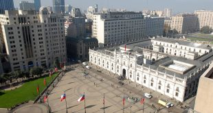 Aerial View of Palacio De La Moneda